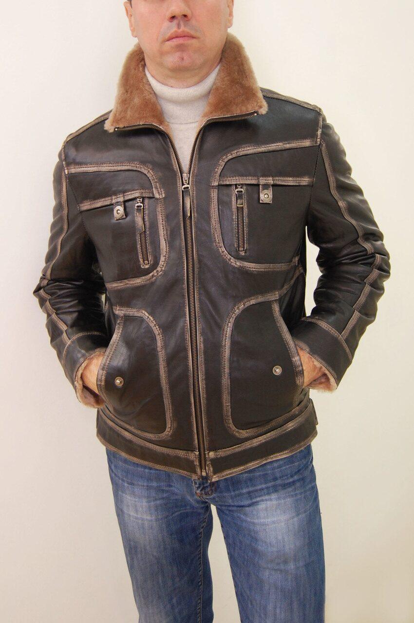 Распродажа мужских кожаных курток 4