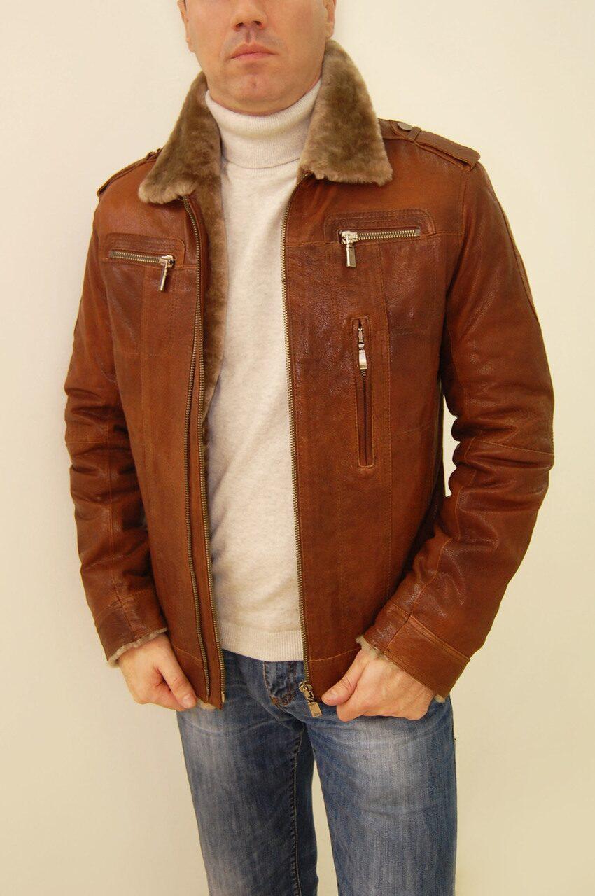 Купить Куртку Кожаную Зимнюю Мужскую Москва