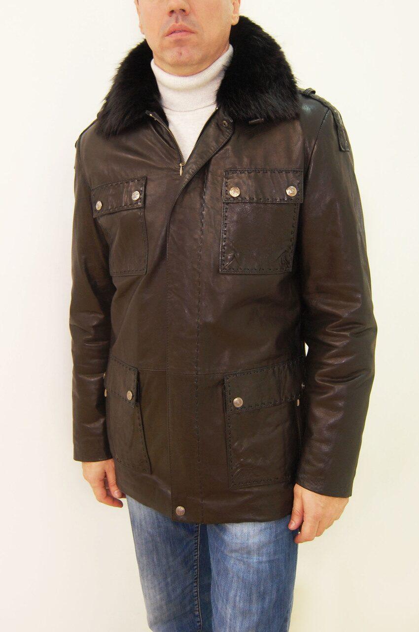 48de6360fac Discount. Мужская кожаная куртка.